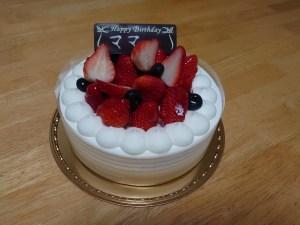 妻の誕生日ケーキ