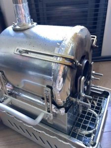 トレンドアイ焙煎機 本体 前面 耐熱テープ