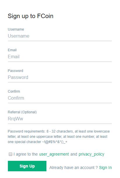 Fcoin(FT)取引所 登録