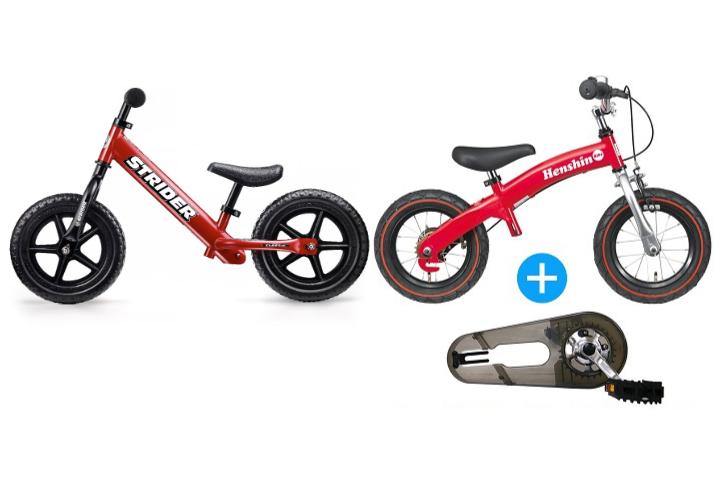 【比較】ストライダーVSへんしんバイク!2歳3歳はどっちを選ぶ?