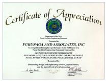 2002 NAVFAC Certificate of Appreciation