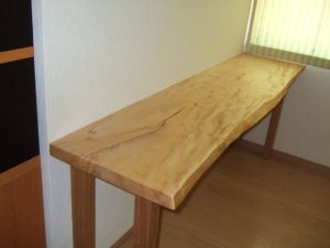 栃一枚板カウンターテーブル