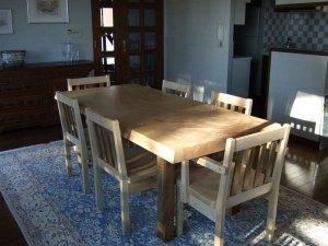 栃テーブルセット