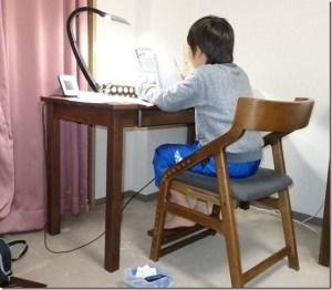 無垢手作り学習机