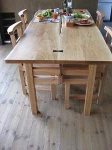 胡桃のダイニングテーブル