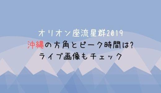 オリオン座流星群2019沖縄の方角とピーク時間は?ライブ画像もチェック