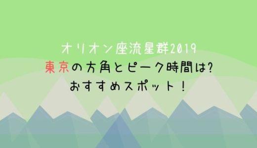 オリオン座流星群2019東京の方角とピーク時間は?おすすめスポット(場所)もチェック