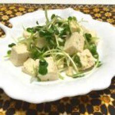 豆腐とカイワレの夏サラダ ブログサイズ