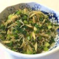 青菜とちりめんじゃこ炒め物④