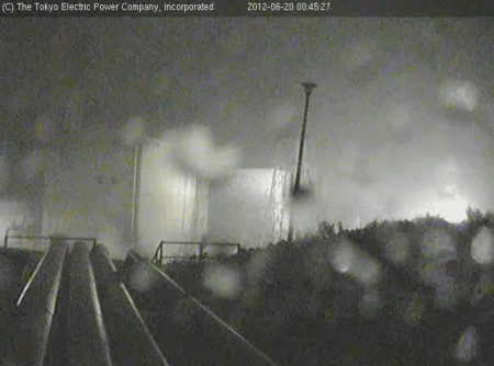 [Now] Typhoon 04 is hitting Fukushima 3