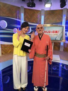 NHK初のユニバーサル放送番組となる「みんなで応援! ピョンチャン2018 オリンピック」記念撮影