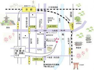地図画像 故郷の家・京都