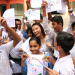 Alumna Holly Wheeler with her students in New Delhi.