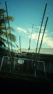Handcrafted antenna that enabled students on outlying islands to communicate with their professors via a NASA satellite