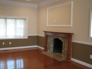 rental property interior fireplace