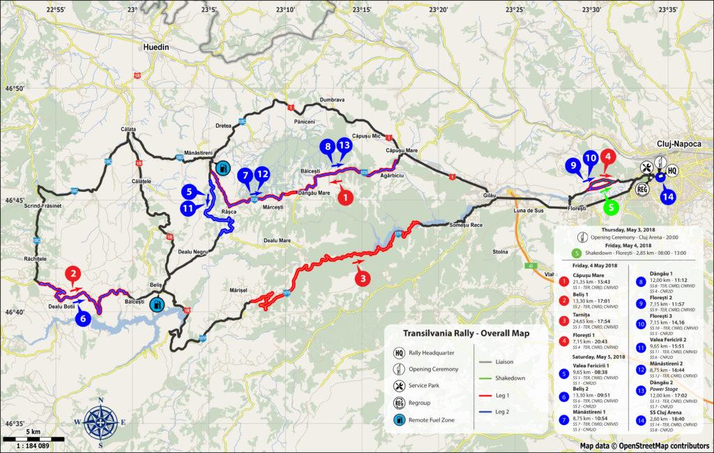 harta transilvania rally