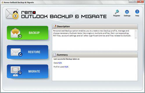Remo Outlook Backup and Migrate