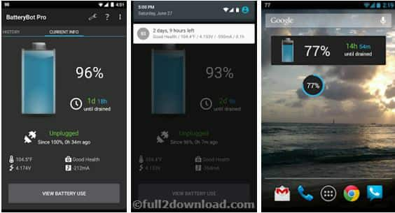 BatteryBot Pro 10.0.3 Download - Show Battery Status & Charge