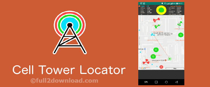 Cell Tower Locator Pro 1.18 [Unlocked] - Show tower location on Map