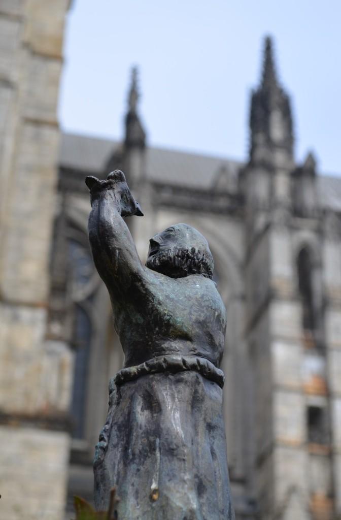 Friar Sculpture Saint John the Divine Church in Manhattan