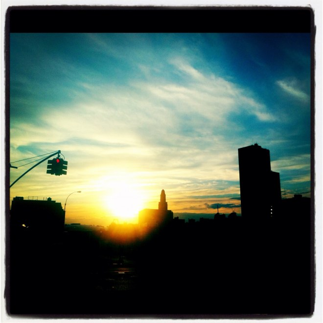 Beautiful Sunrise over NYC