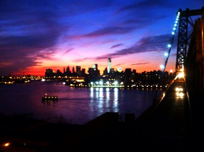 Evening Over the New York Harbor