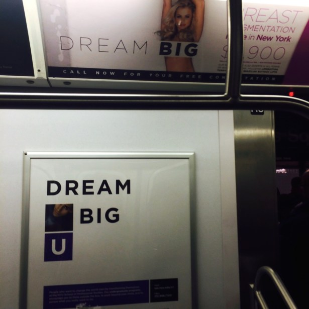 Dream Big Subway Advertisements in New York City