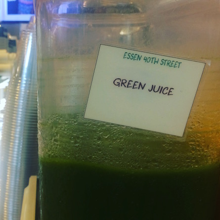Green Juice Sign