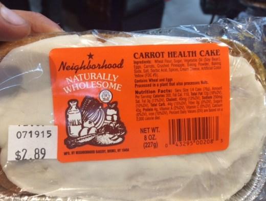 Carrot Health Cake