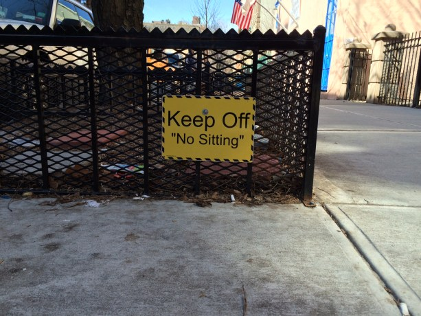 Keep Off No Sitting