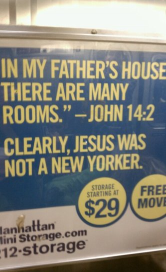 Manhattan Mini Storage Subway Advertisement