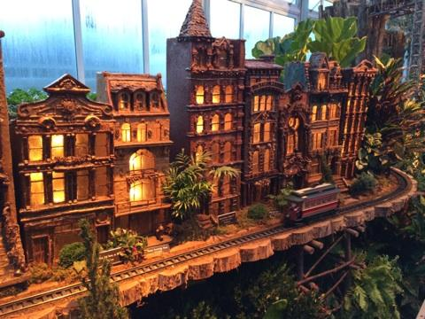 Holiday Train Show NYC Street