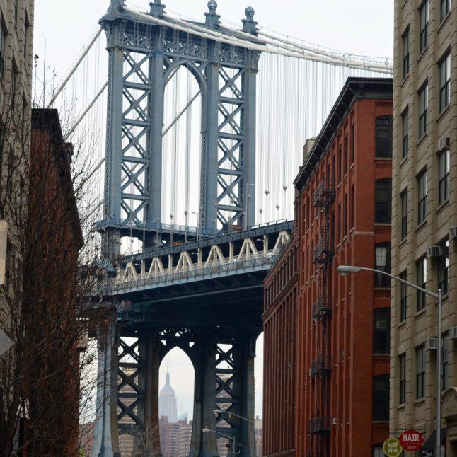 Manhattan Bridge Framing the Empire State Building