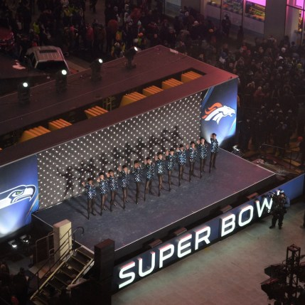 Rockettes Performing on Super Bowl Boulevard