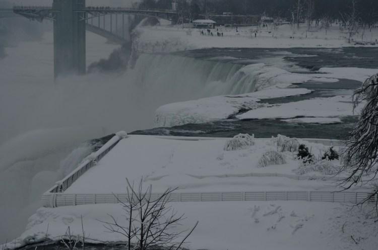 Icy American Falls