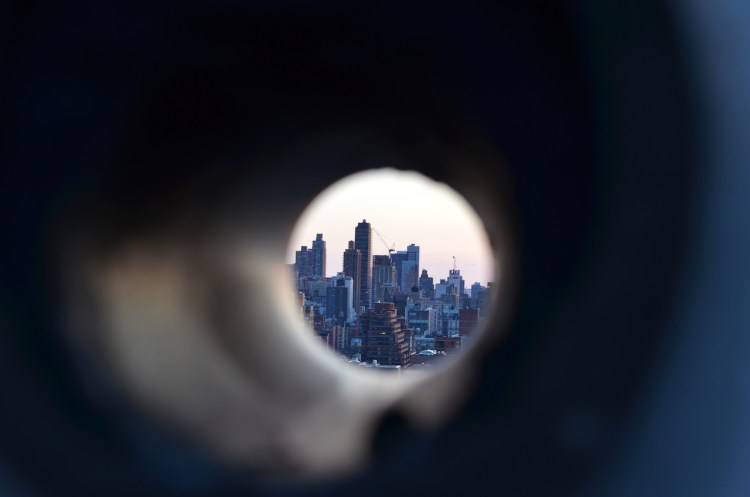Manhattan Through the Looking Pipe
