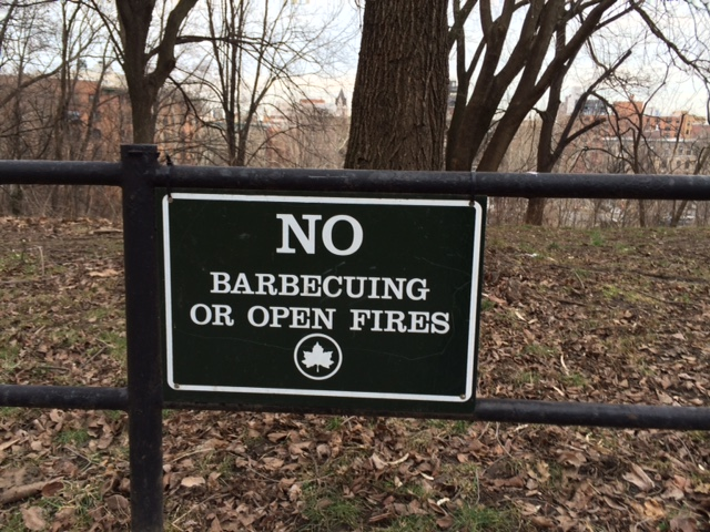No Barbecuing or Open Fires