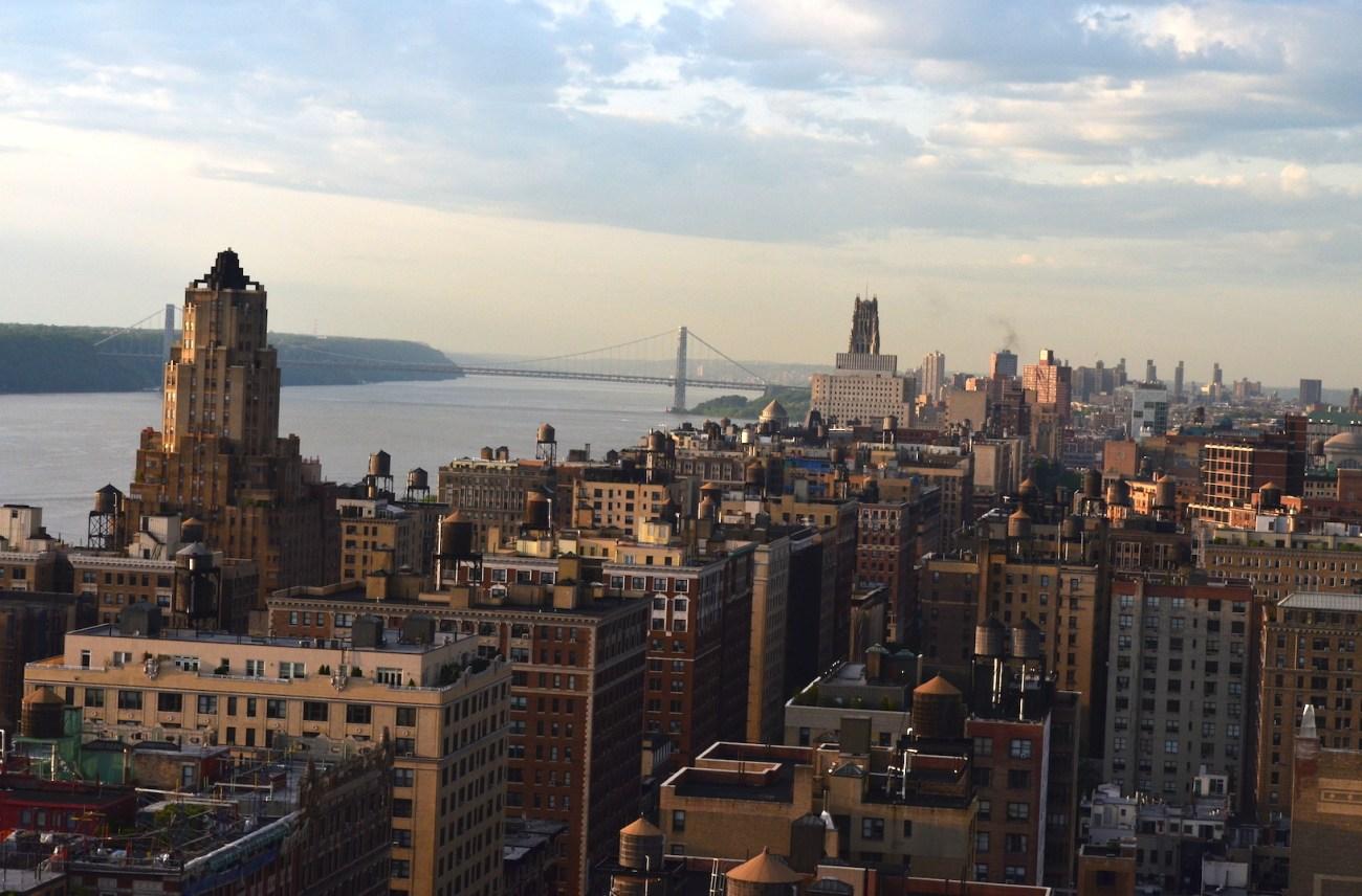 Manhattan Facing North At Sunset