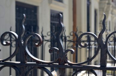 Iron Fence In Hamilton Heights Manhattan