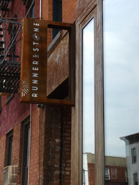 Runner Restaurant Sign in Gowanus