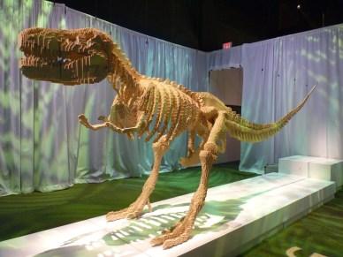 Dinosaur at Discovery Times Square by Nathan Sawaya
