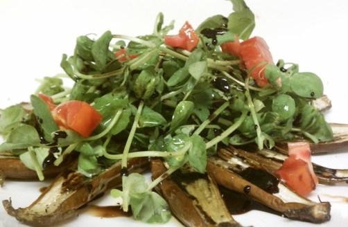 Fairy Tale Eggplant Salad with Heirloom Tomatoes