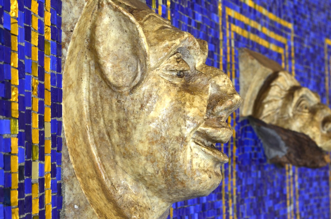 Gargoyle Face in NYC Subway