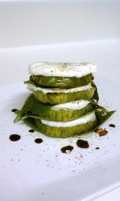 Heirloom Zebra Tomato Caprese Salad