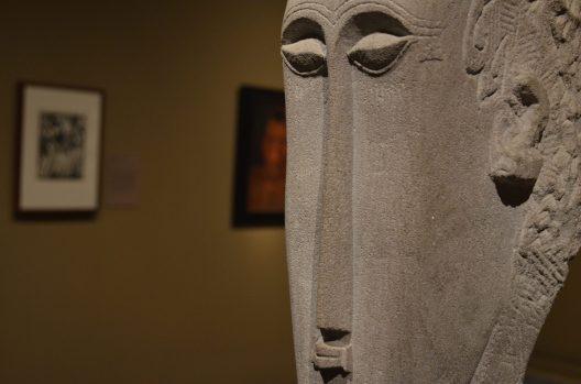 Head sculpture at the Met