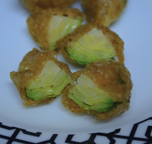 Guinness Battered Brussels Sprout Wedges