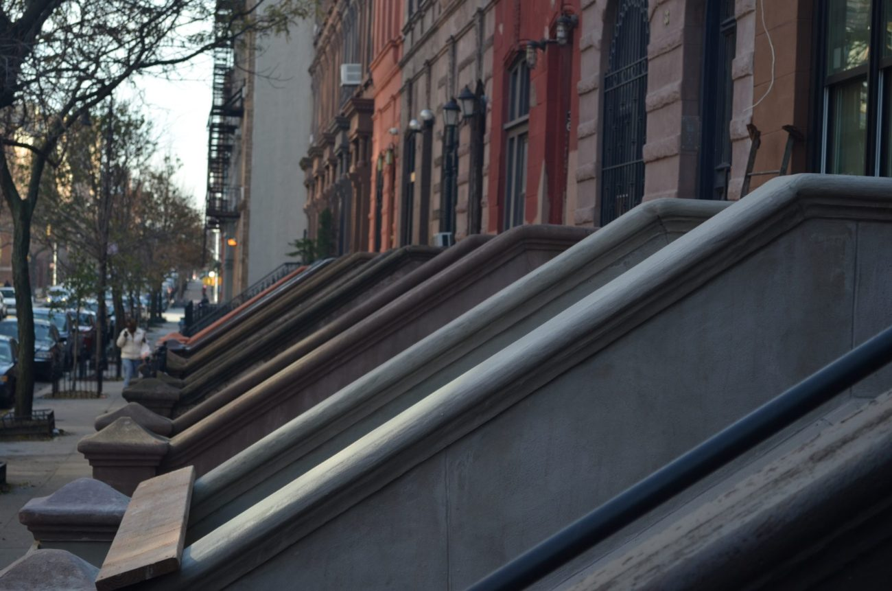 Row of East Harlem Browstones in New York City