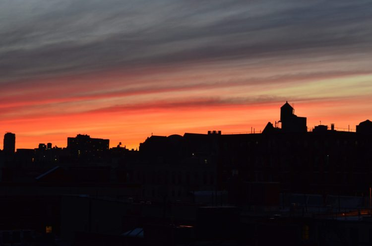 Sunset over Harlem