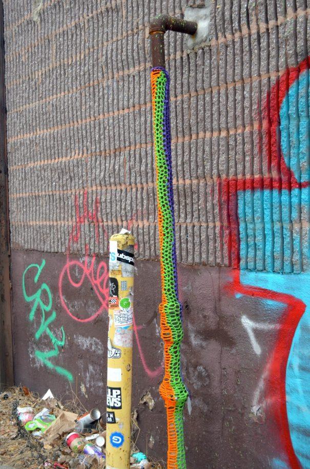 Crochet Pipe in Williamsburg Brooklyn