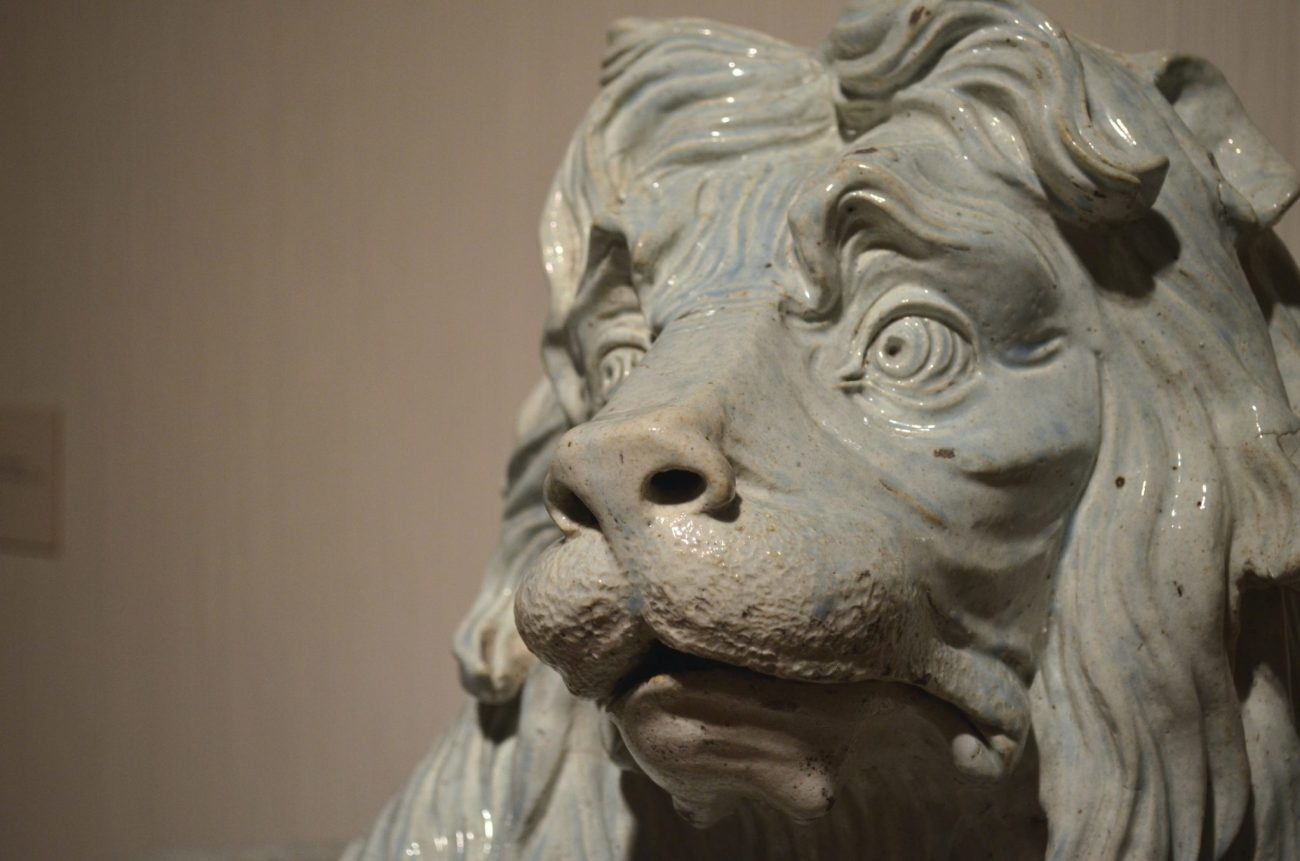Earthenware Lion at the Met